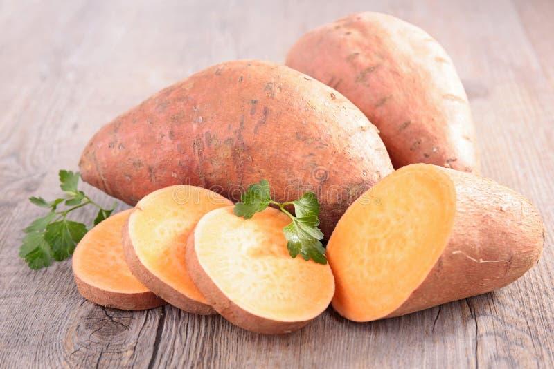 Raw sweet potato stock photography
