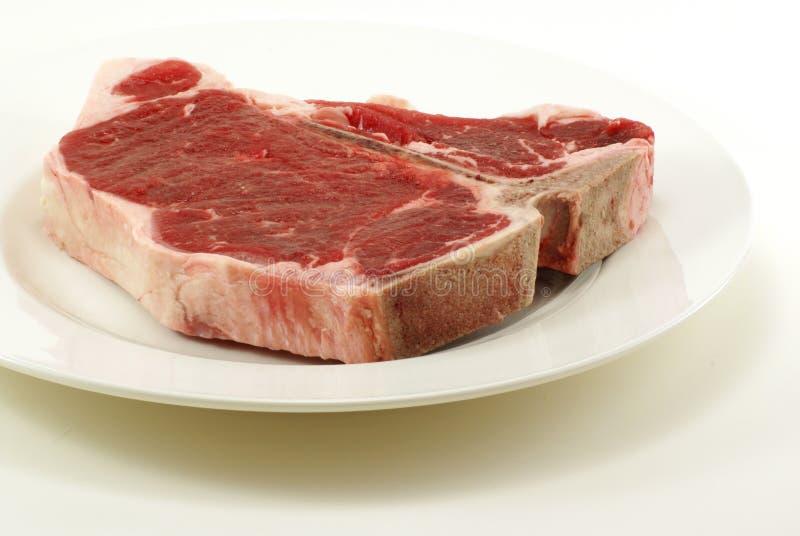 Raw T-Bone Steak royalty free stock images