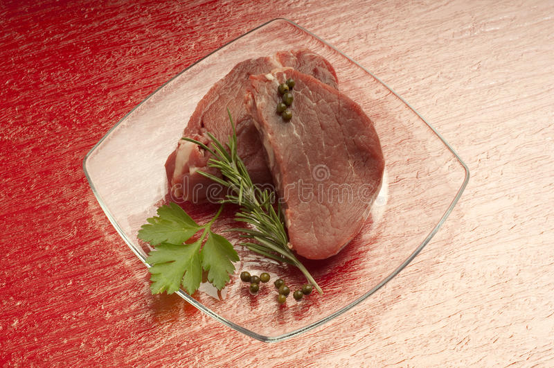 Raw tenderloin royalty free stock photography