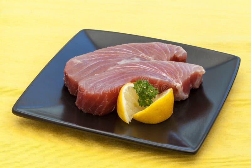 Raw Tuna Steak stock photography