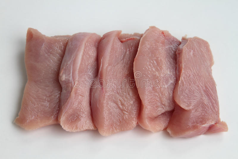 Raw turkey breast stock image