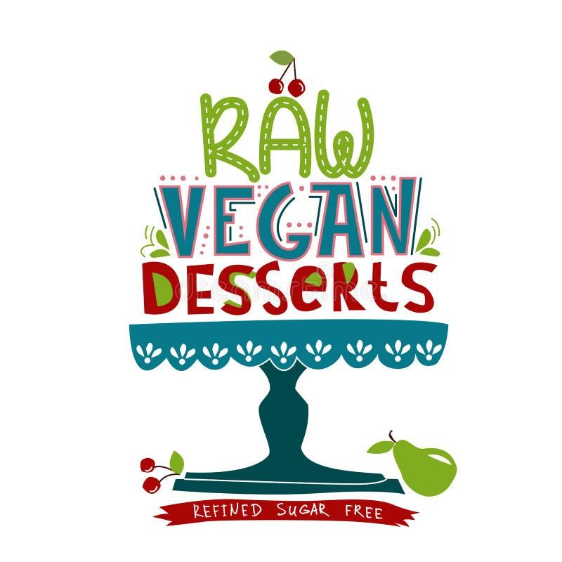 Raw vegan dessert royalty free illustration