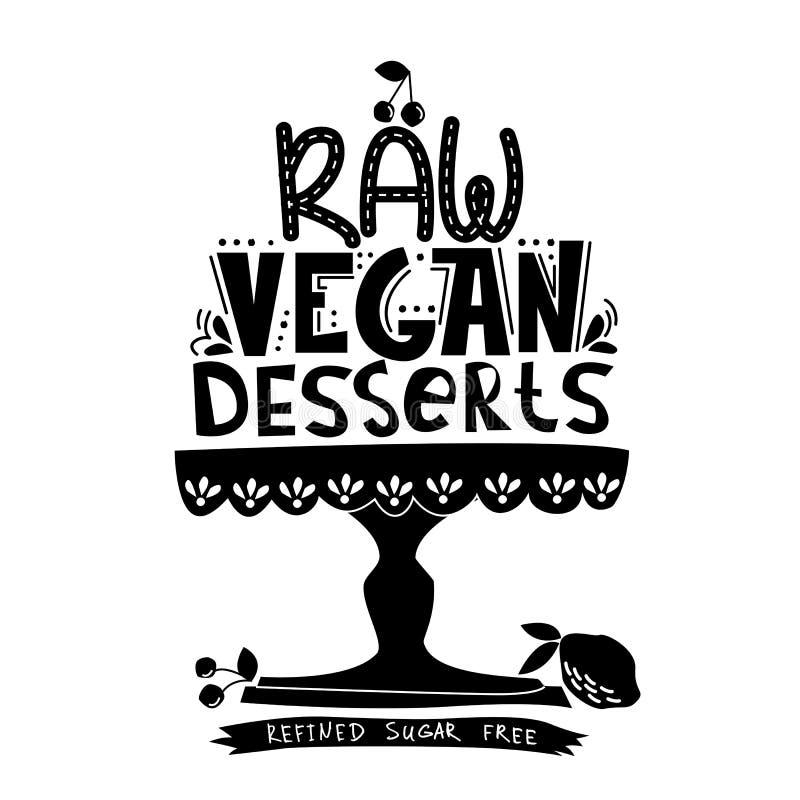 Raw vegan dessert vector illustration