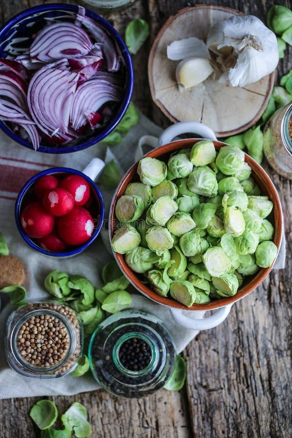 Veggies ready for fermentation stock images