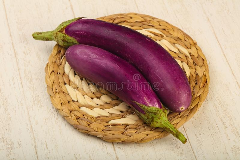 Raw violet eggplant stock images