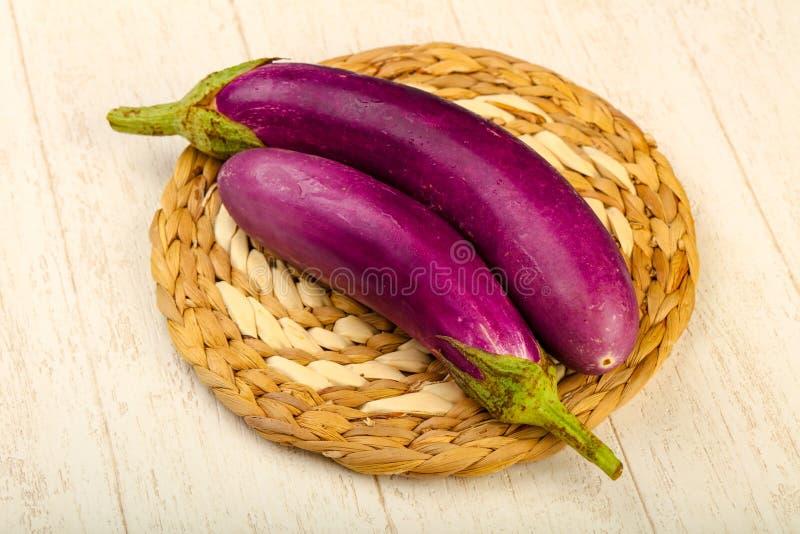 Raw violet eggplant royalty free stock image