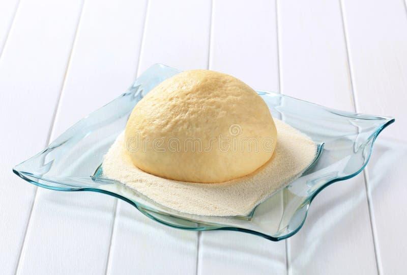 Raw yeast dough stock photo