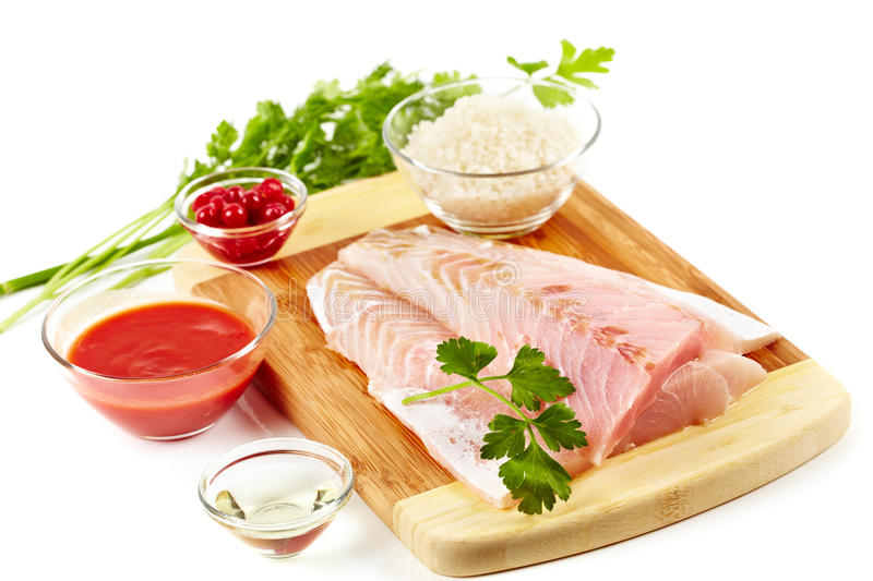 Download Raw zander fillet stock photo. Image of dinner, meal - 18696136