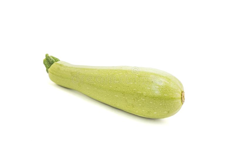 Zucchini isolated on white stock images