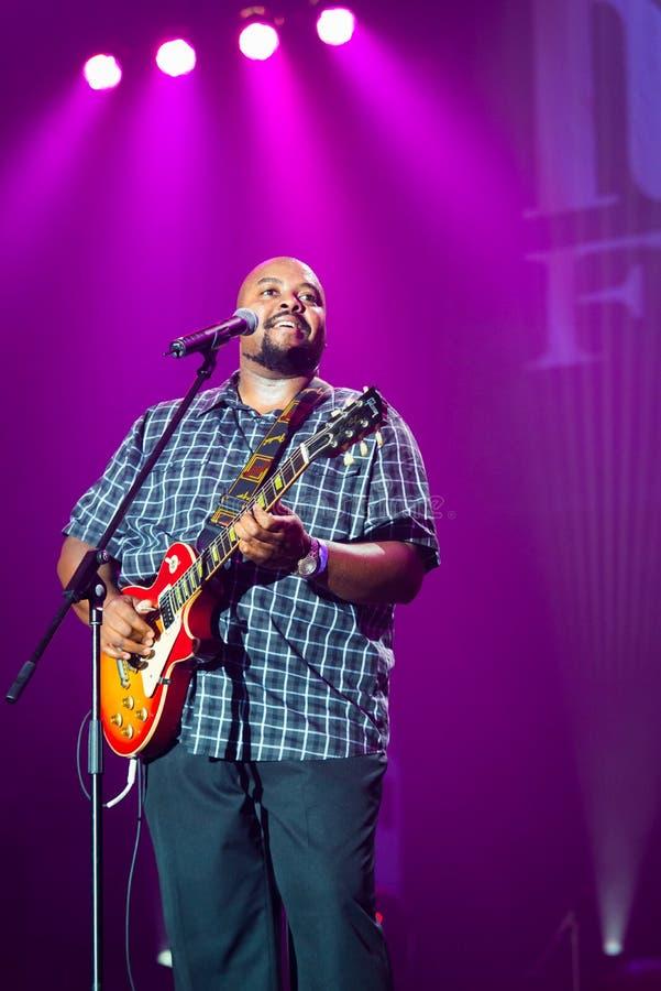 Rawa Blues Festival 2014: Shawn Holt & The Teardrops stock photography