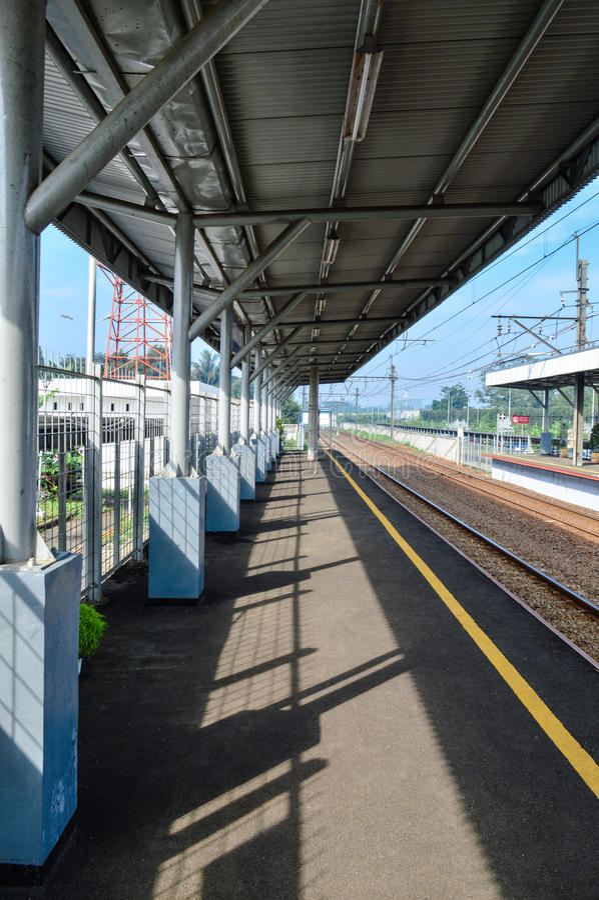 Rawa-buntu Station in Bd stockfoto