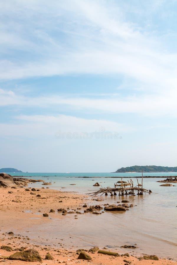 Rawai异乎寻常的海湾在普吉岛海岛 库存图片