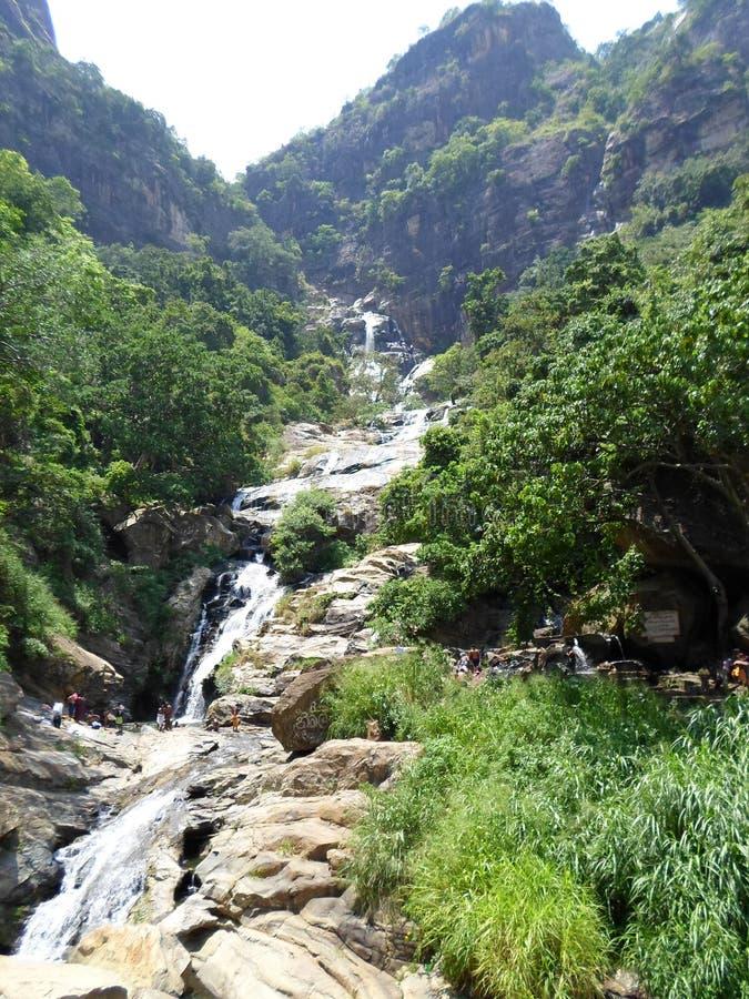 Rawana water falls in lanka stock photos
