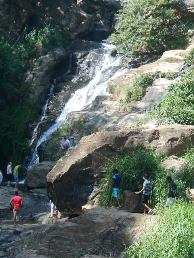Rawana waterfall in Sri Lanka stock photo