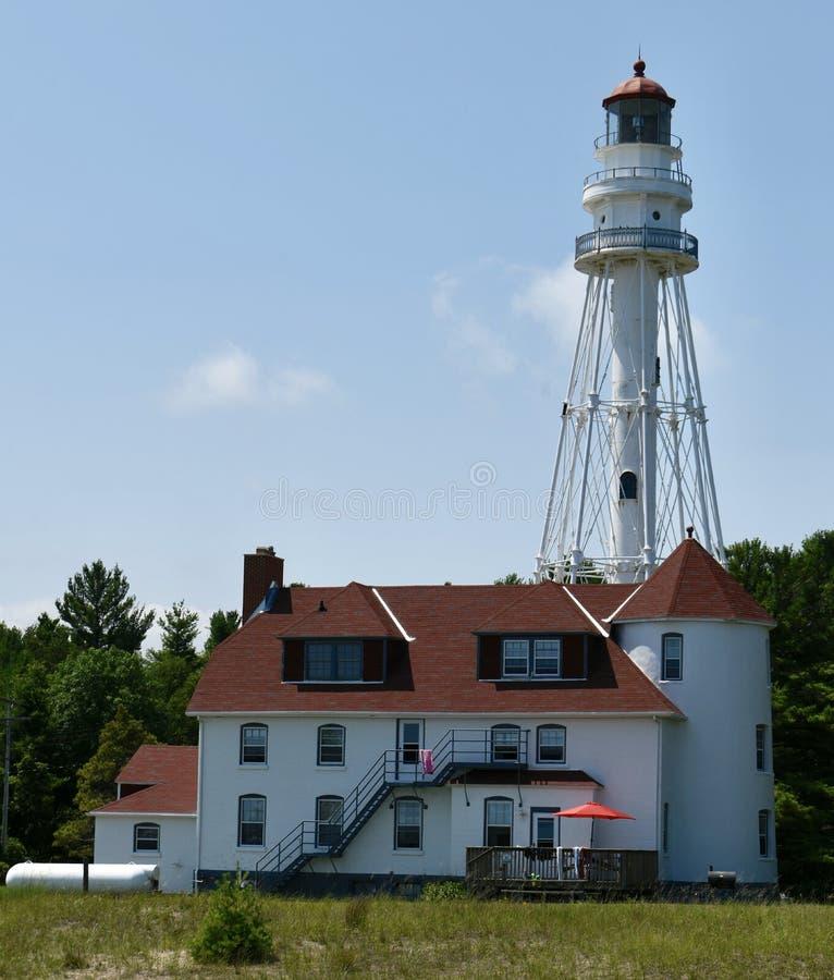 Rawley Point Lighthouse lizenzfreies stockfoto