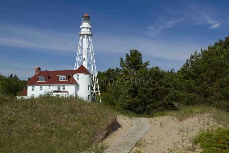 Rawley Point Lighthouse stock photo