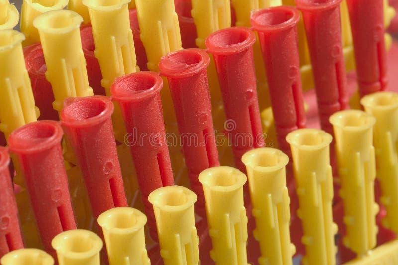 Rawlplugs di plastica fotografie stock