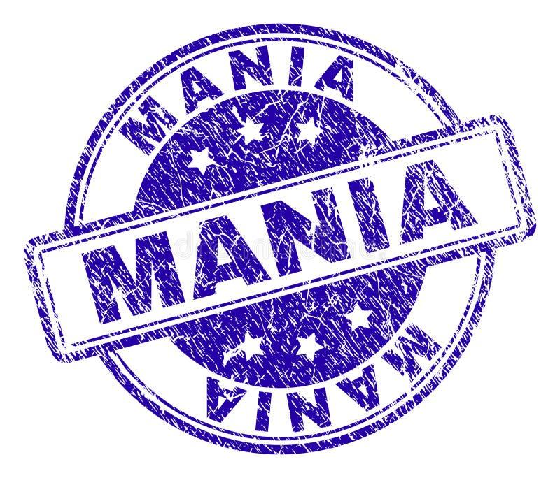 Rayé a donné à MANIA Stamp Seal une consistance rugueuse illustration de vecteur