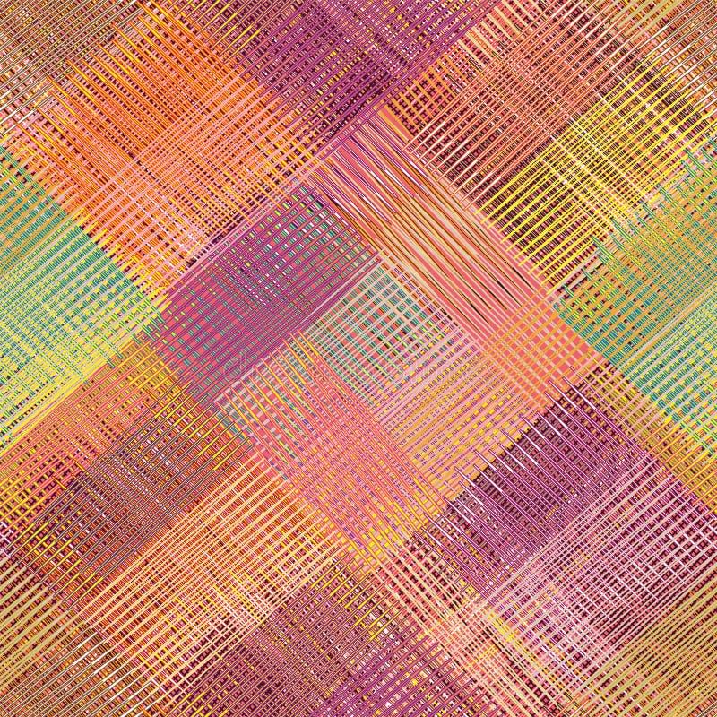 Rayé grunge, diagonal, à carreaux, édredon, Se coloré de tissu illustration libre de droits