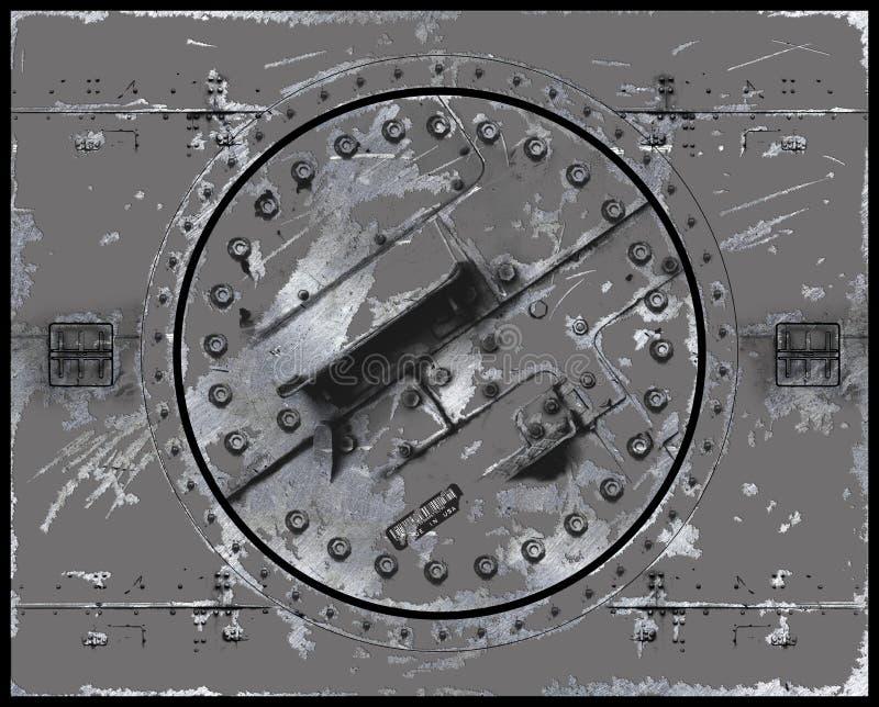Rayé peint de plaque métallique illustration stock