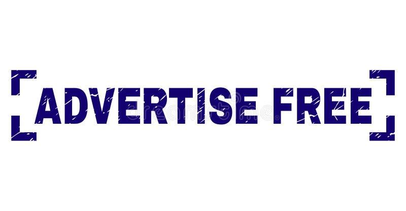 Rayé texturisé ANNONCEZ le joint LIBRE de timbre entre les coins illustration libre de droits