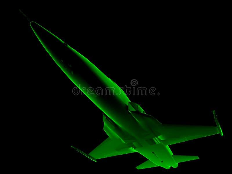 ray x 3 d myśliwiec ilustracja wektor