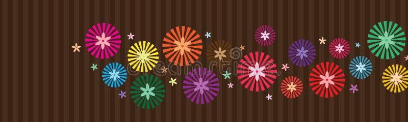 Ray dentro da bandeira horizontal do estilo da flor ilustração stock