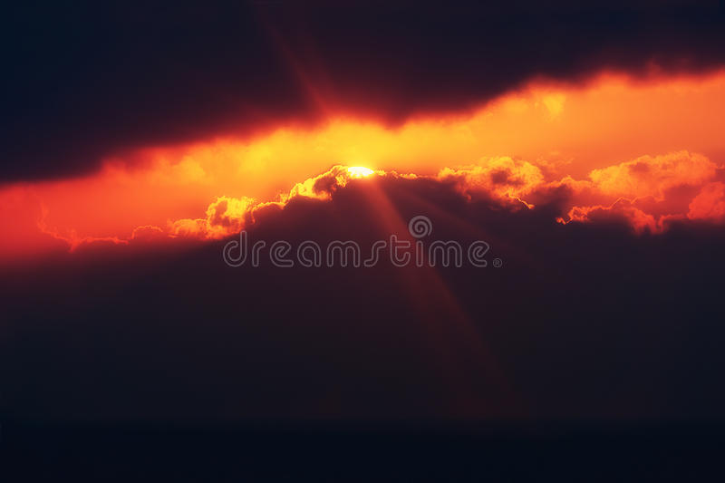 A ray of hope royalty free stock image