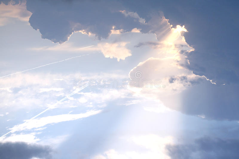 Download Ray of light stock photo. Image of beautiful, cloud, heavy - 10725670