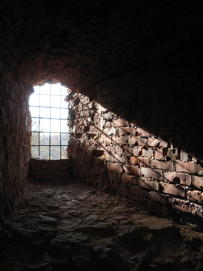 A ray of light from ancient window royalty free stock photo