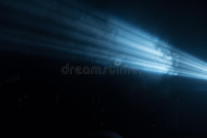 Ray of light on a black background royalty free stock photo
