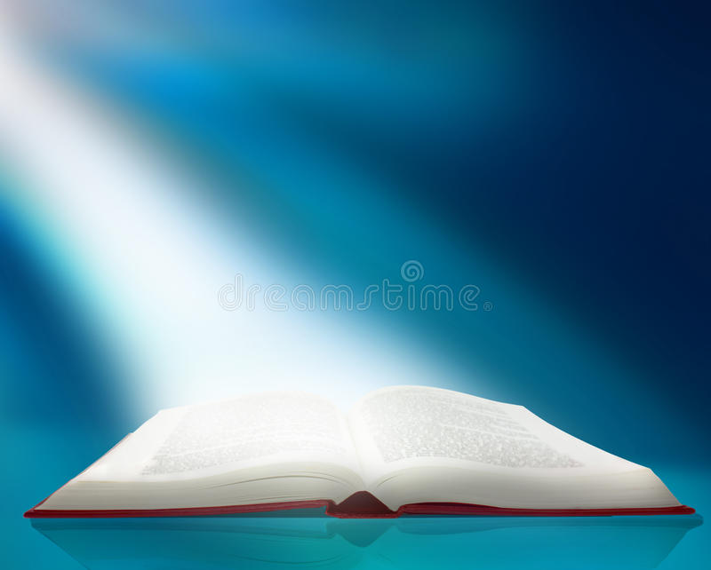 Ray of light on book vector illustration
