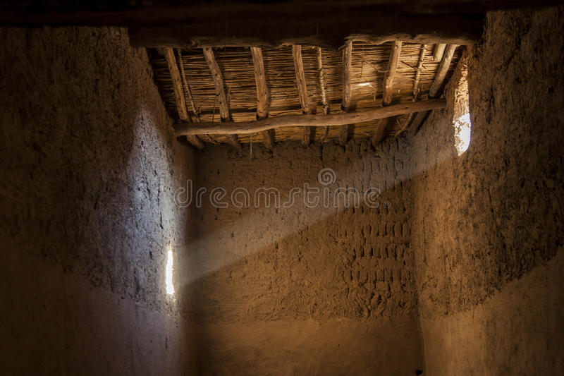 Ray of light. A ray of sun light inside a Berber house. Morocco stock images