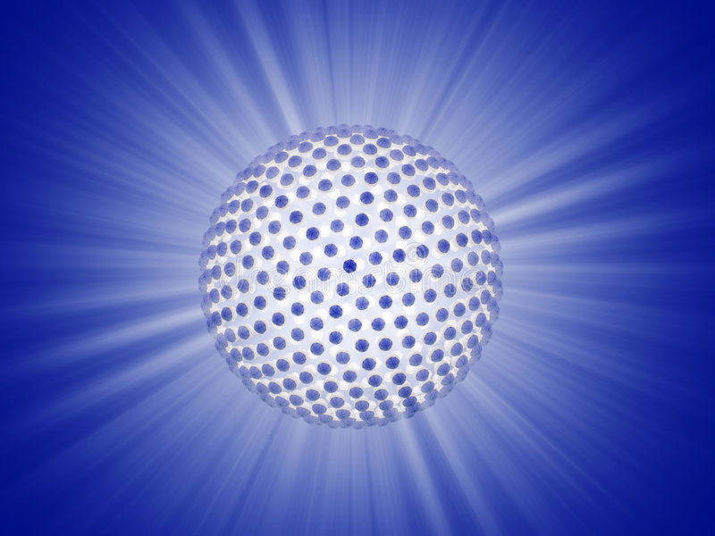 Ray of lights sphere stock illustration