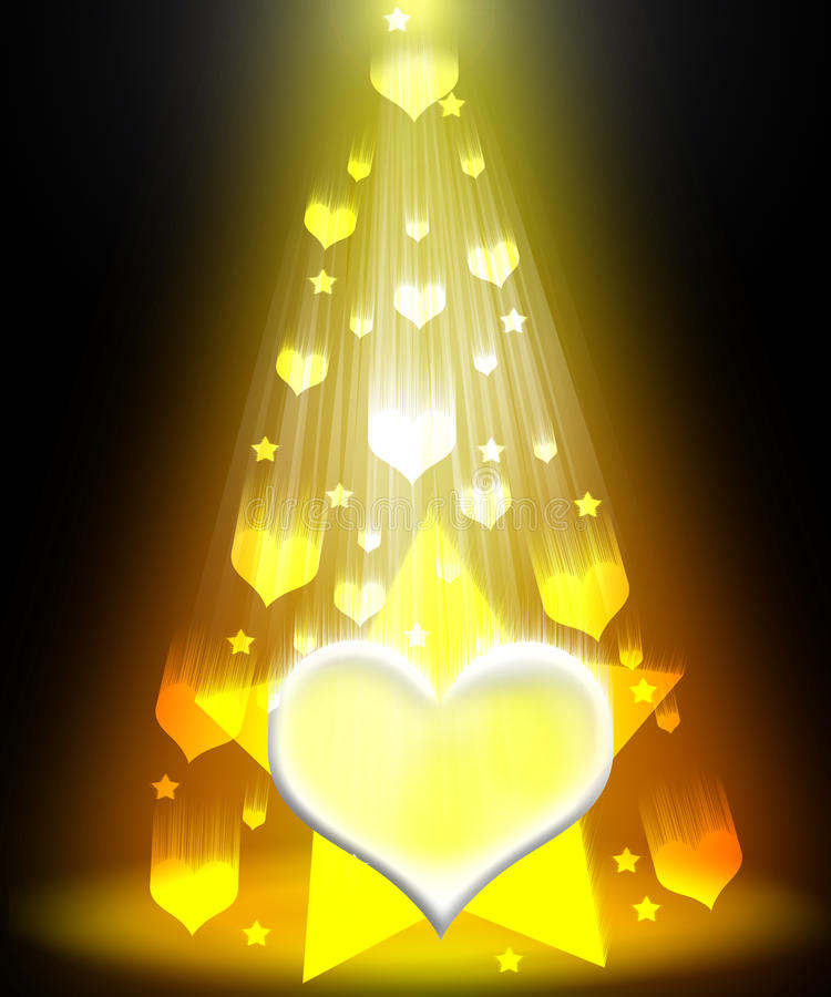Ray of love with star royalty free stock image