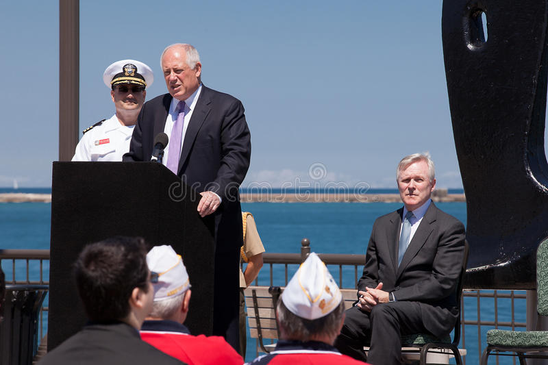 Download Ray Mabus And Pat Quinn At USS Illinois Ceremony Editorial Stock Image - Image: 25410849
