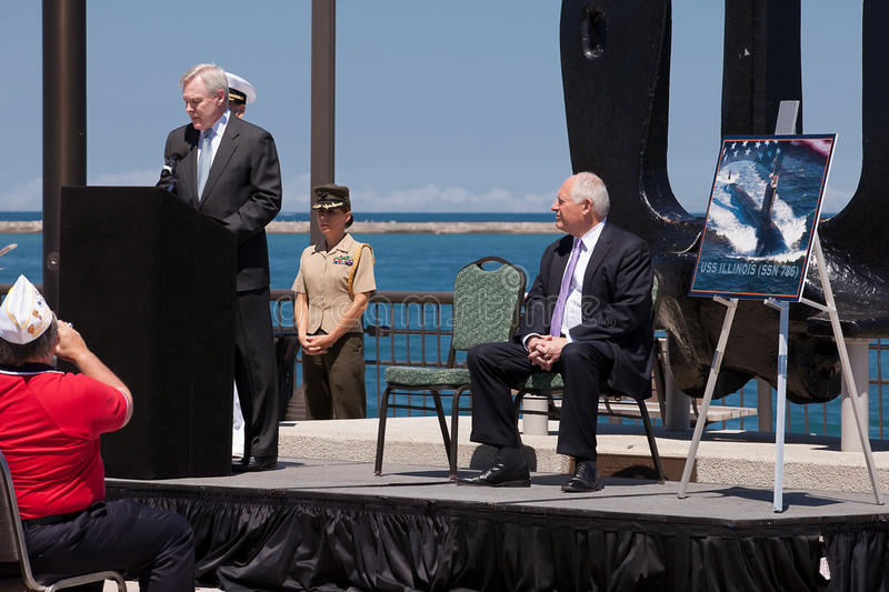 Download Ray Mabus At USS Illinois Naming Ceremony Editorial Image - Image: 25410725