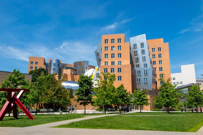 Ray Stata i Maria Ześrodkowywamy na kampusie MIT fotografia stock