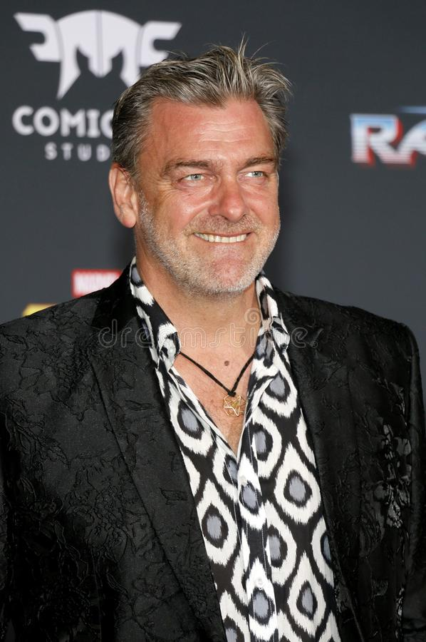 Ray Stevenson. At the World premiere of `Thor: Ragnarok` held at the El Capitan Theatre in Hollywood, USA on October 10, 2017 royalty free stock photography