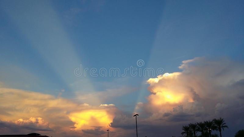 Ray of Sunshine Clouds royalty free stock images