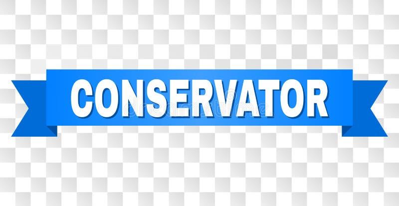 Raya azul con el subtítulo del CONSERVADOR libre illustration