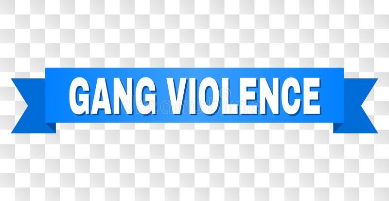 Raya azul con el texto de la VIOLENCIA de la CUADRILLA libre illustration