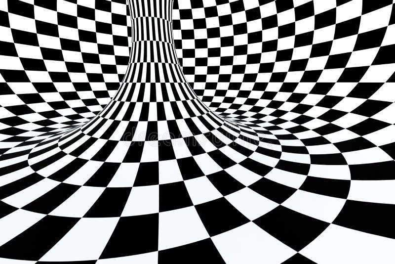 raya blanco y negro, repitiendo líneas, representación 3d ilustración del vector