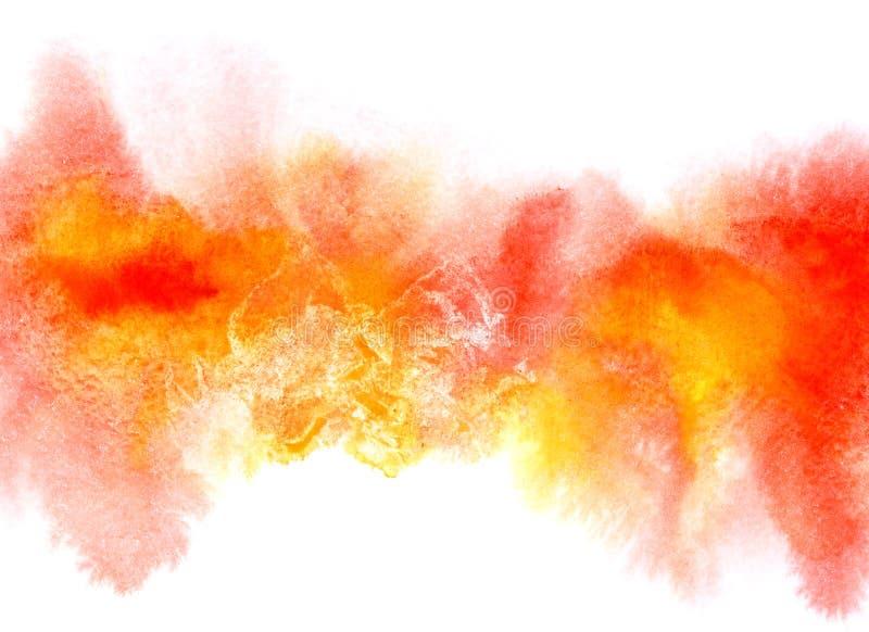 Raya colorida de la acuarela con las manchas ilustración del vector