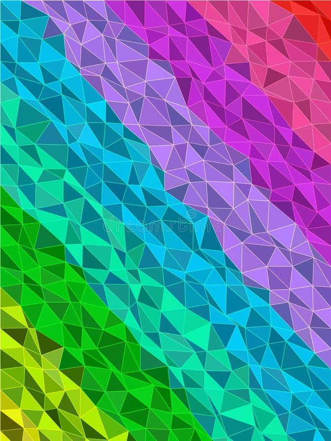 Raya colorida en modelo de los triángulos con la línea textura libre illustration