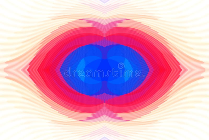 Raya creativa en el fondo ilustración del vector