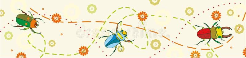 Raya del escarabajo ilustración del vector