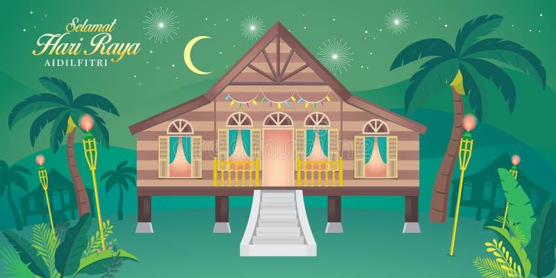 Raya do hari de Selamat ilustração stock