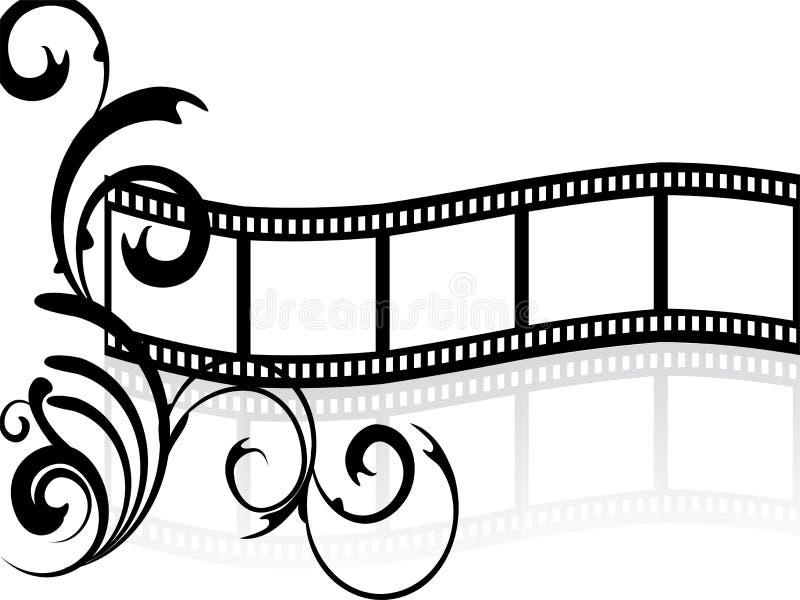 Raya floral de la película stock de ilustración