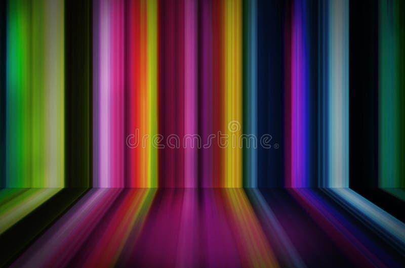 Rayas abstractas del fondo del color libre illustration